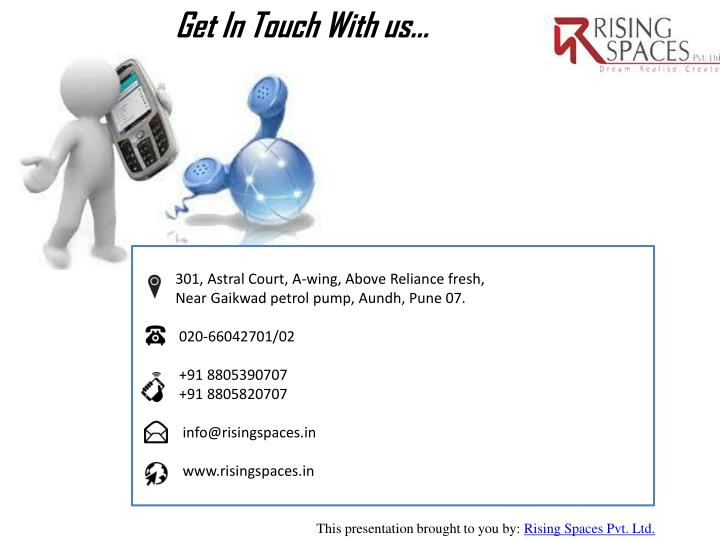 Get In Touch With us…
