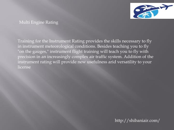 Multi Engine Rating