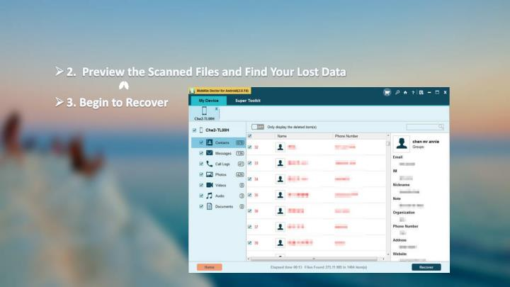 2.  Preview the Scanned Files and Find Your Lost Data