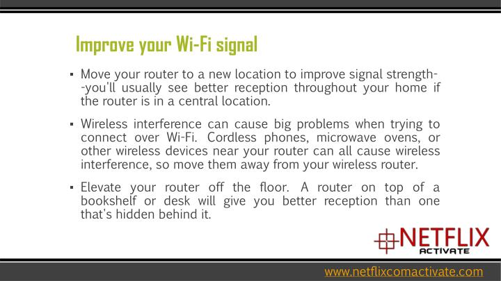 Improve your Wi-Fi signal