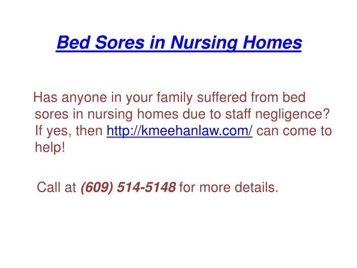 Bed Sores in Nursing Homes