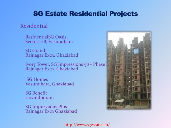 Sg estate residential projects