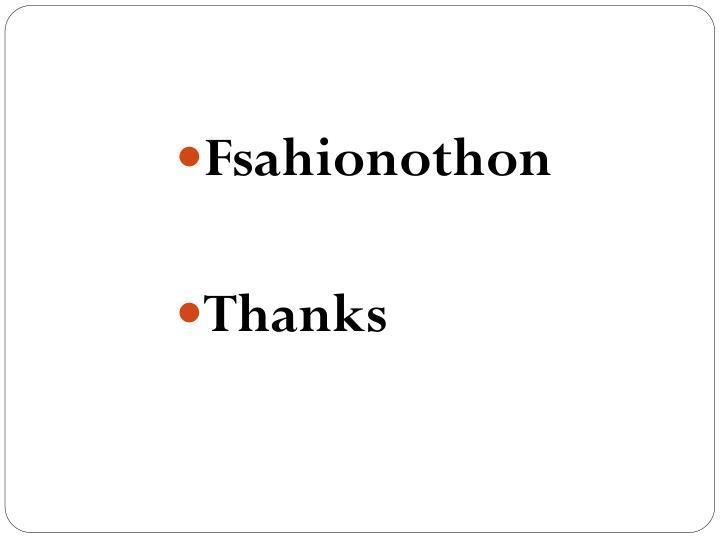 Fsahionothon