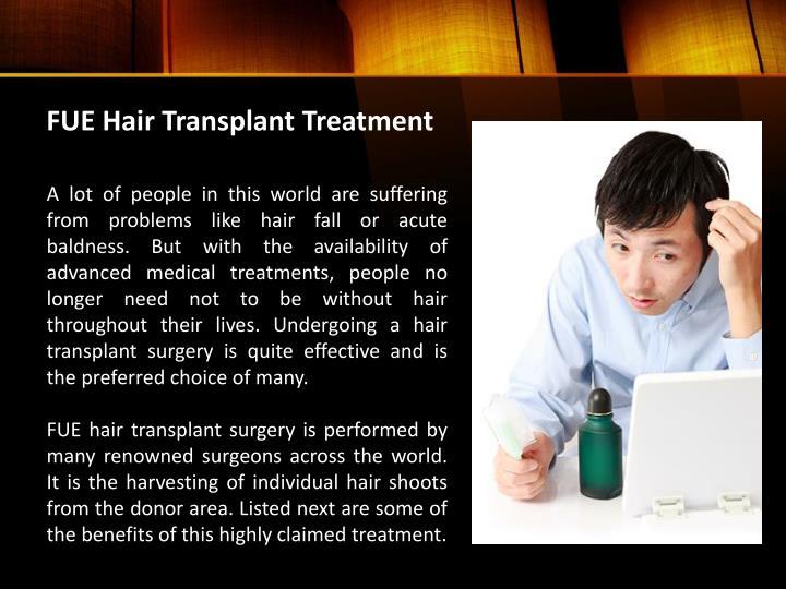 FUE Hair Transplant Treatment