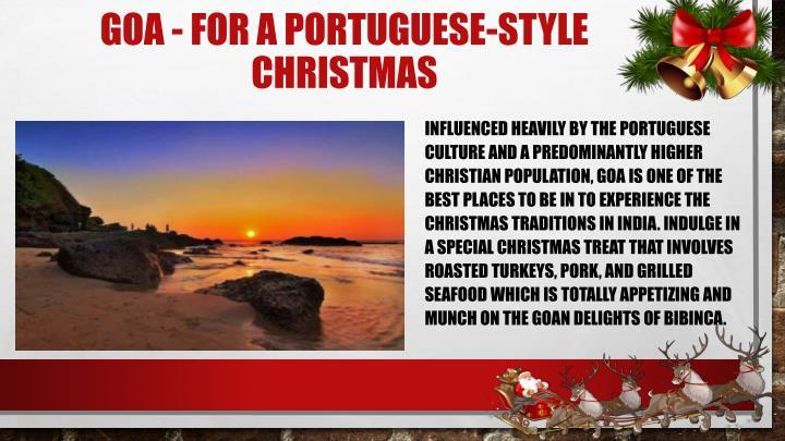 Goa for a portuguese style christmas