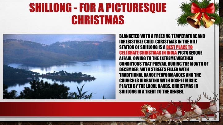 Shillong for a picturesque christmas