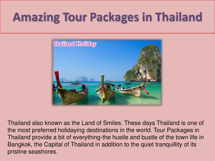 Amazing tour packages in thailand