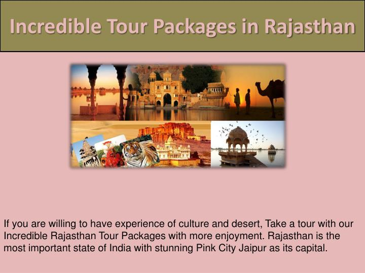 Incredible Tour Packages in