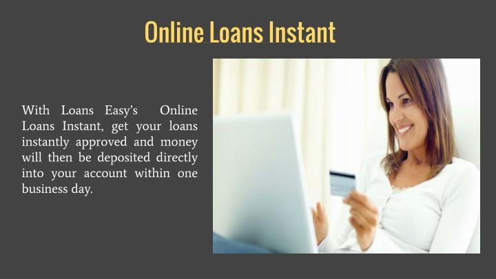 Online loans instant