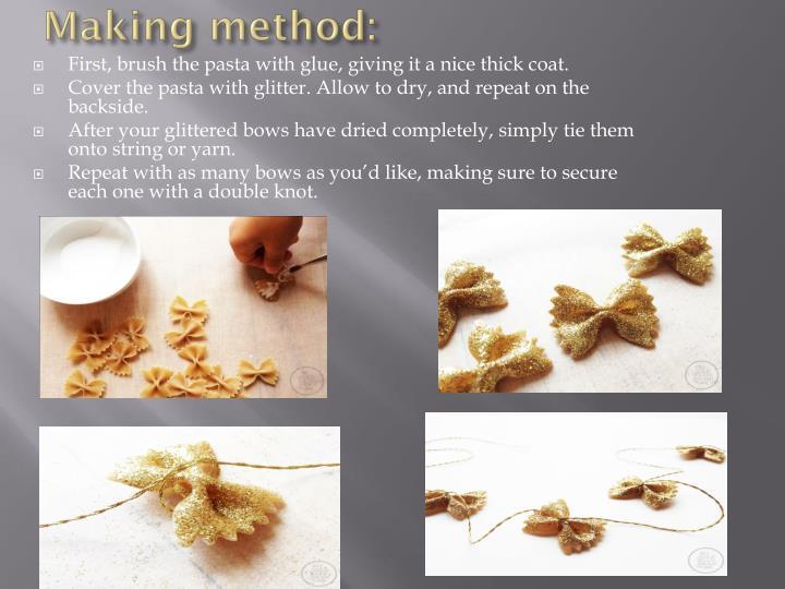 Making method