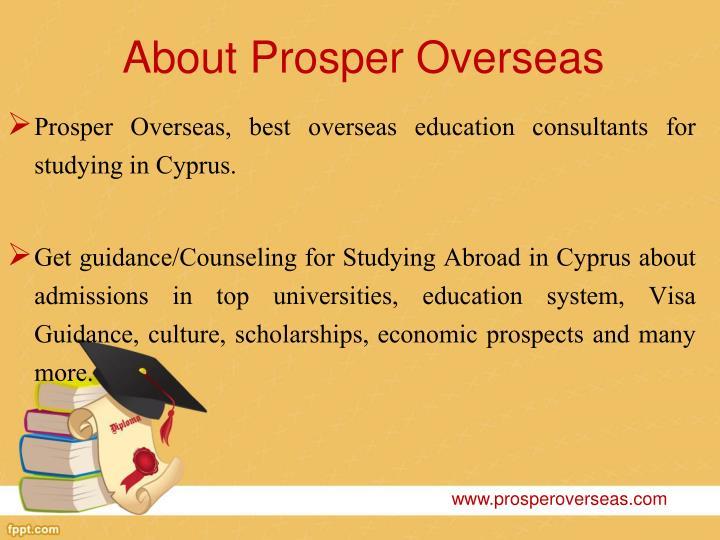 About prosper overseas