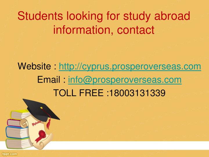 Students looking for study abroad information, contact