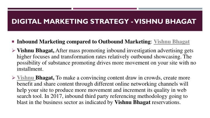 Digital marketing strategy vishnu bhagat