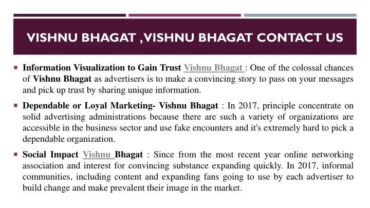 Vishnu bhagat , Vishnu bhagat contact us