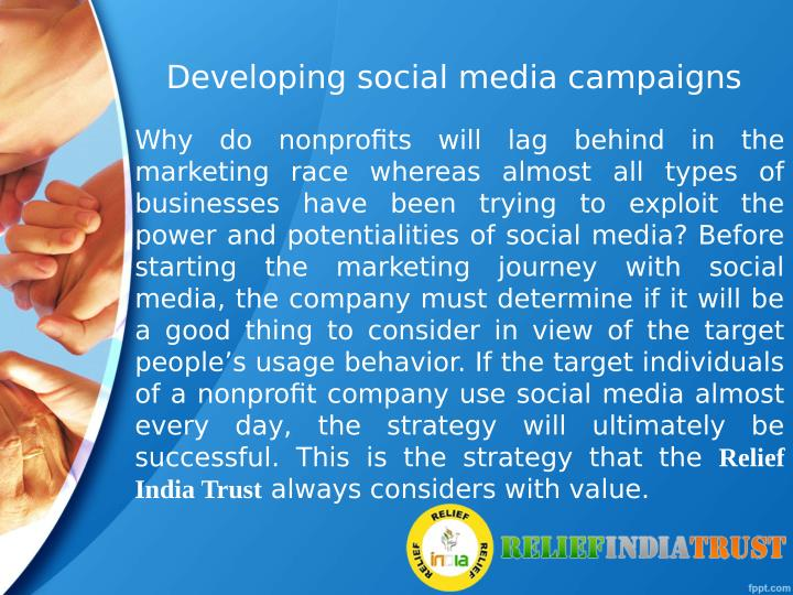 Developing social media campaigns