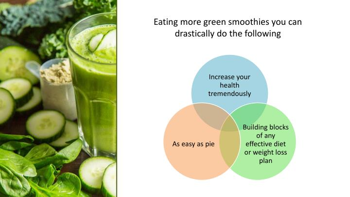 Eating more green smoothies you can drastically do the following