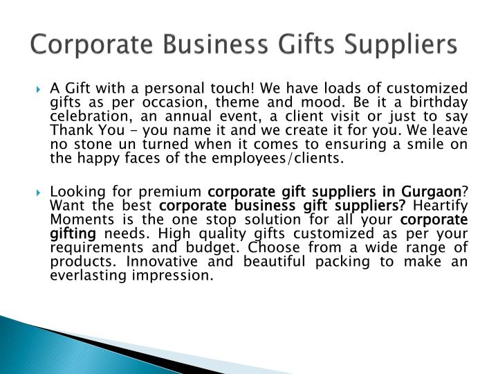 Corporate business gifts suppliers