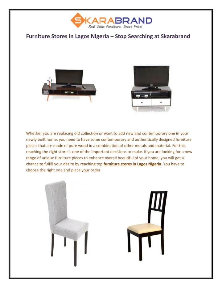 Furniture Stores in Lagos Nigeria