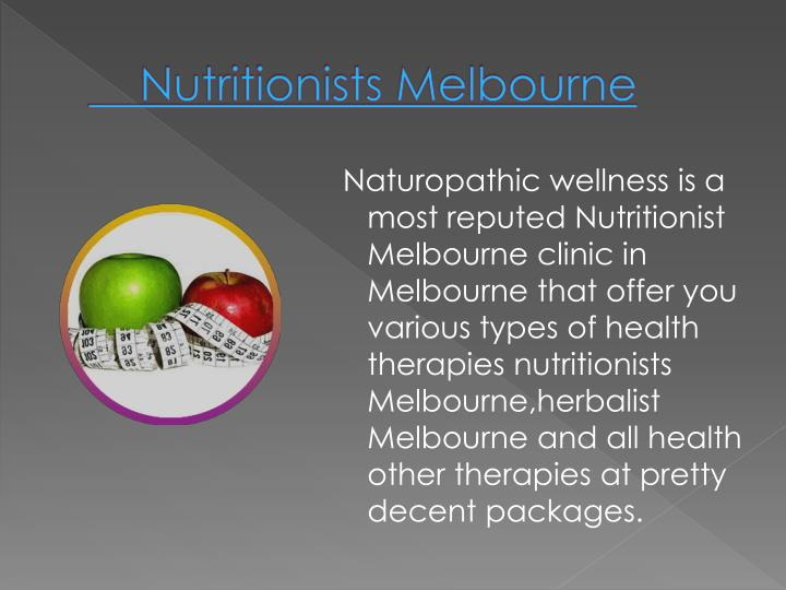 Nutritionists Melbourne