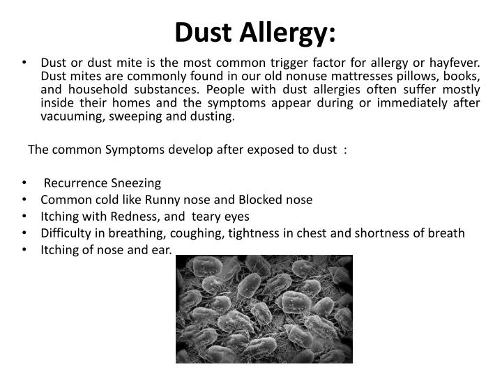 Dust Allergy:
