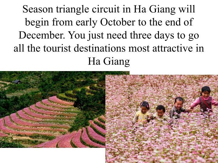 Season triangle circuit in Ha Giang will