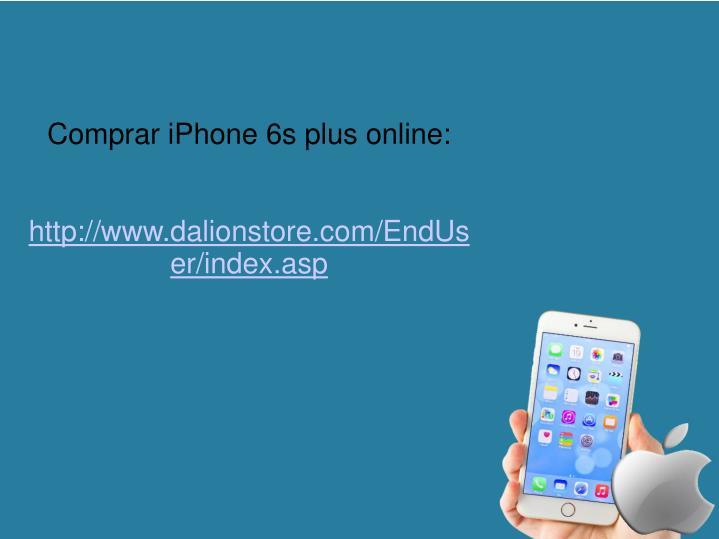 Comprar iPhone 6s plus online: