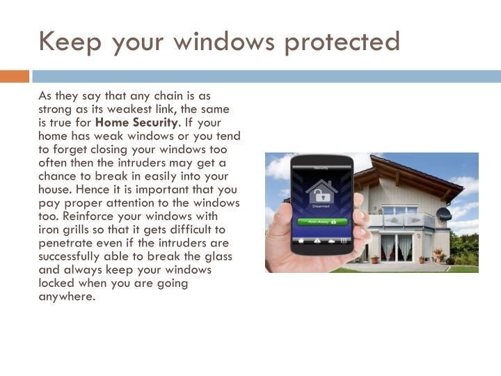 Keep your windows protected