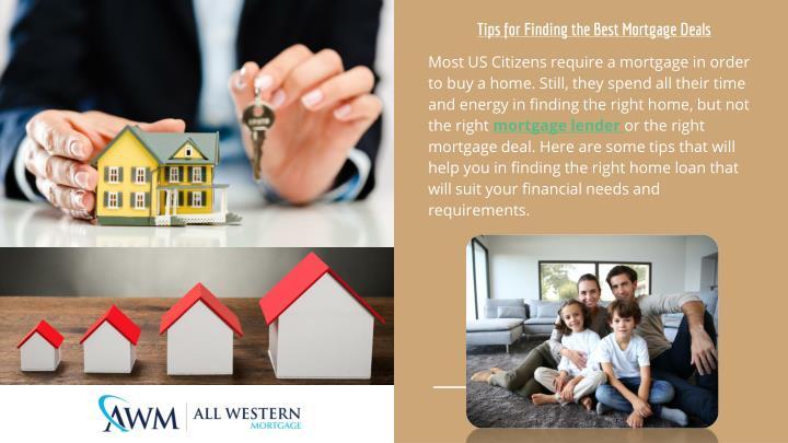 Tips for finding the best mortgage deals