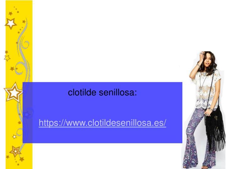 clotilde senillosa: