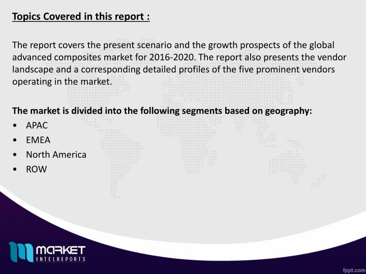 Topics Covered in this report :