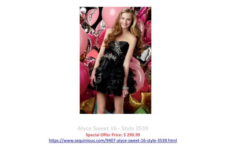Alyce Sweet 16 - Style 3539