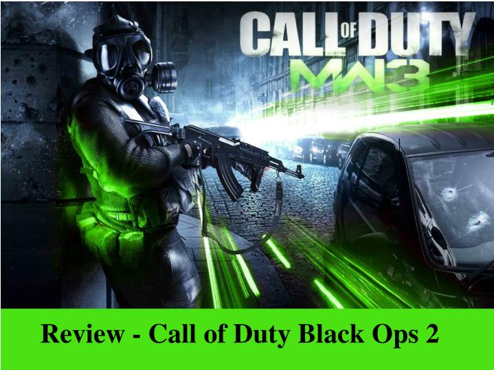 review call of duty black ops 2 n.