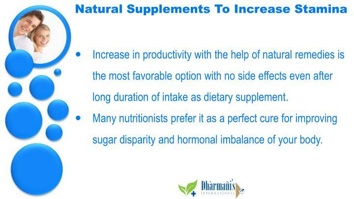 Natural Supplements To Increase Stamina