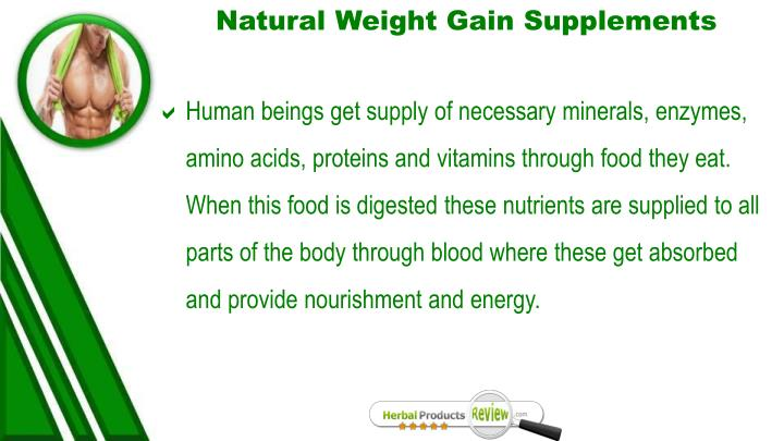 Natural Weight Gain Supplements