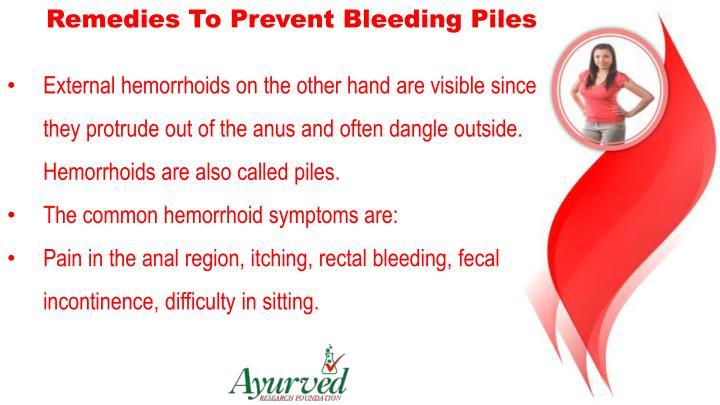 Remedies To Prevent Bleeding Piles
