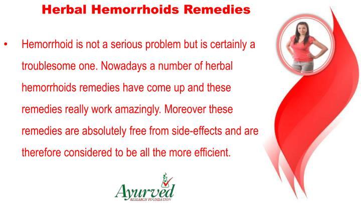 Herbal Hemorrhoids Remedies