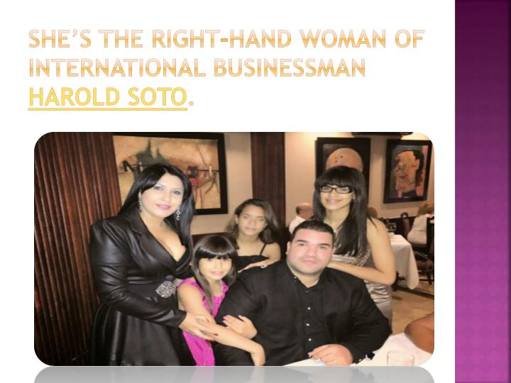 She's the right-hand woman of international businessman