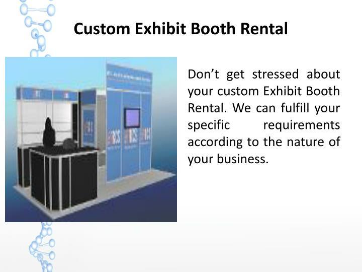 Custom Exhibit Booth Rental