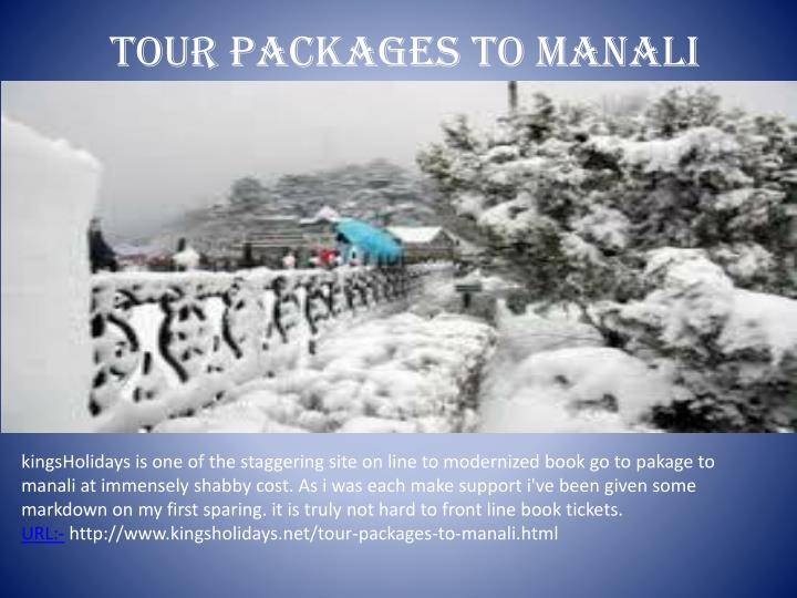 tour packages to manali