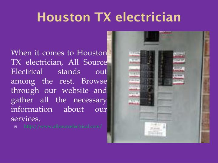 Houston TX electrician