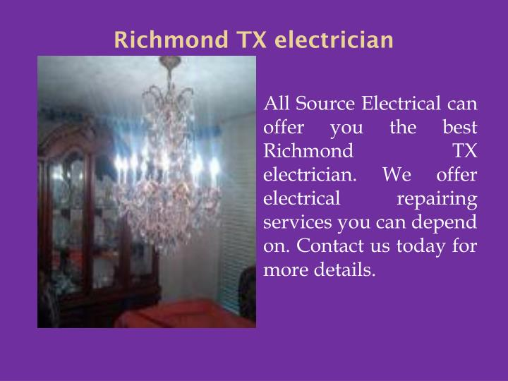 Richmond TX electrician