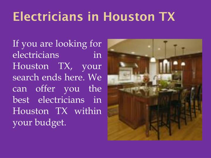 Electricians in Houston TX