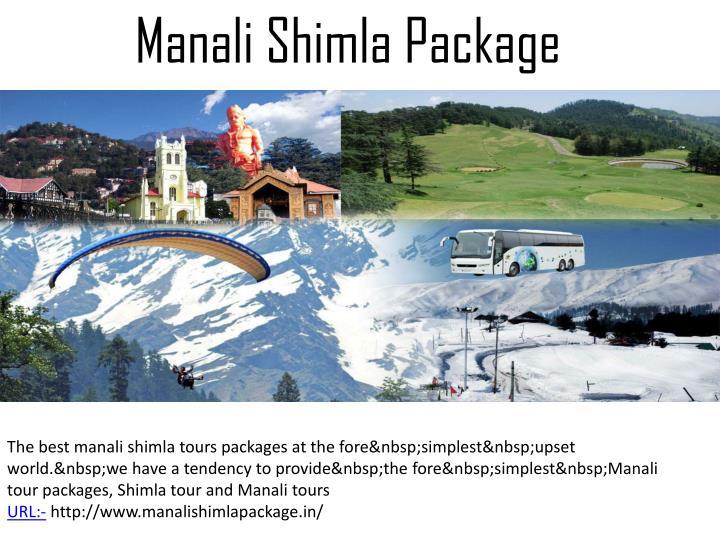 Manali Shimla Package