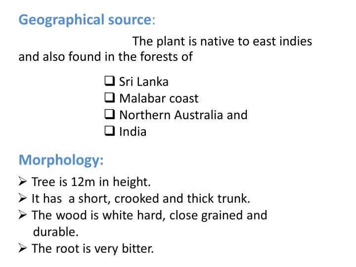 Geographical source