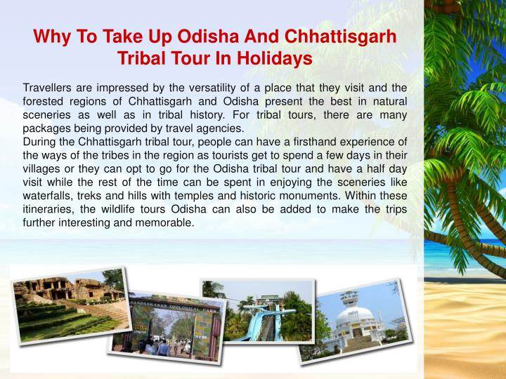 Why To Take Up Odisha And Chhattisgarh Tribal Tour In Holidays