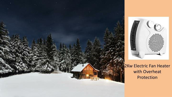 2Kw Electric Fan Heater with Overheat Protection