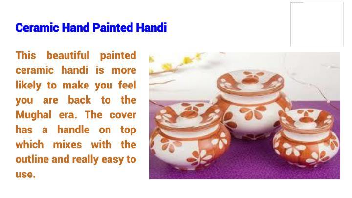 Ceramic Hand Painted Handi
