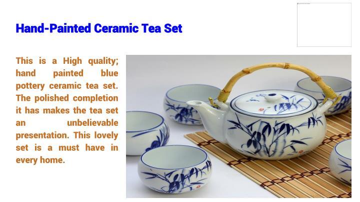 Hand-Painted Ceramic Tea Set