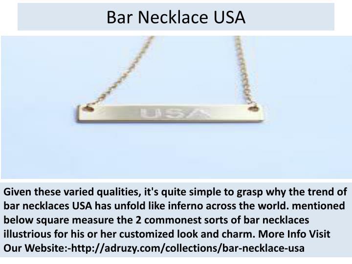 Bar necklace usa