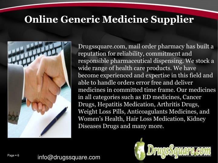 Online Generic Medicine Supplier